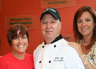 "Program Director Idi Blanco, ""Short Chef"" Ray  Newlands and Literacy Director Maria Gomez"